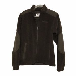 Columbia Men's Sherpa Brown Elbow Patch Jacket